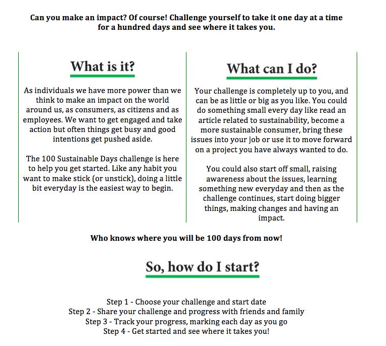 100 Sustainable Days -